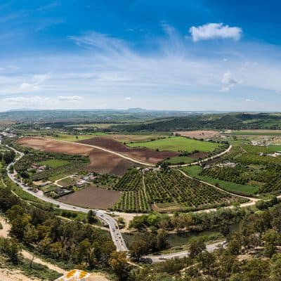 arcos panoramic view in spain